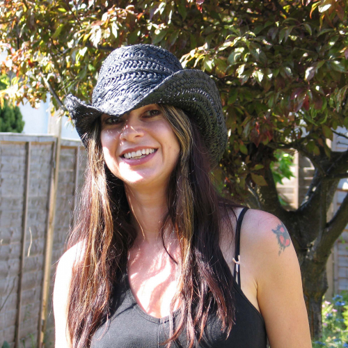 Tanya Krzywinska staff profile image with a hat